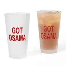 Obama Osama Drinking Glass