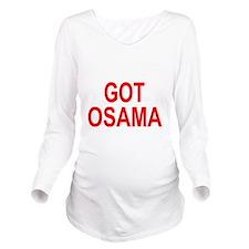 Obama Osama Long Sleeve Maternity T-Shirt