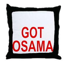 Obama Osama Throw Pillow