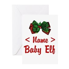 Personalized Baby Elf Greeting Cards (Pk of 10)