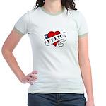 Mario tattoo Jr. Ringer T-Shirt