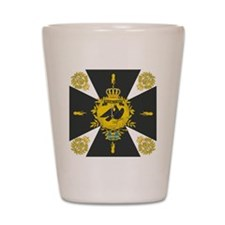 Gneisenau Colberg Prussian Battle Flag Shot Glass