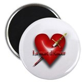 La Mort D'Amour (The Death of Love) 2.25&quot; Magnet (