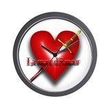 La Mort D'Amour (The Death of Love) Wall Clock