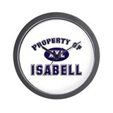 Property of isabell Wall Clock