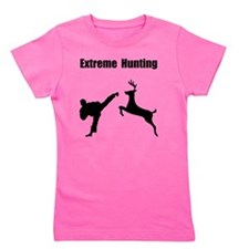 Extreme Hunting Black Girl's Tee