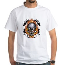 Twin Tribal Dragons and skull Shirt