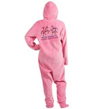 Charlie-D3-WhiteApparel Footed Pajamas