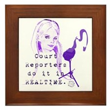 court_reporters_do_it_in_realtime_1 Framed Tile