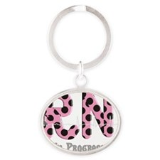 RN In Progress pink Oval Keychain