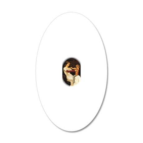 Mother and son 20x12 Oval Wall Decal