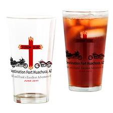 Destination Fort Huachuca Cross Wht Drinking Glass