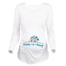 Peek a Boo Winter Long Sleeve Maternity T-Shirt
