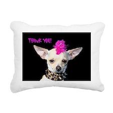 Punk Chihuahua Thank You Rectangular Canvas Pillow