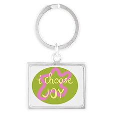 I Choose Joy Pink Landscape Keychain