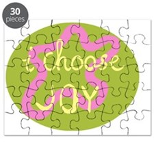 I Choose Joy Pink Puzzle