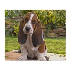 Basset puppy mousepad Throw Blanket