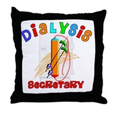 Dialysis secretary 2011 Throw Pillow