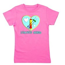Dialysis nurse Blue Heart Girl's Tee