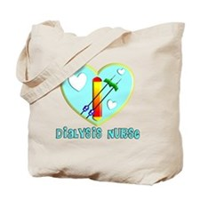 Dialysis nurse Blue Heart Tote Bag