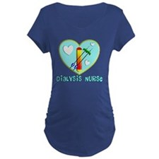 Dialysis nurse Blue Heart T-Shirt