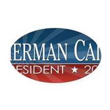 license-plate_herman_cain_2012 Oval Car Magnet