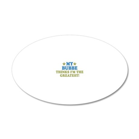 thinksgreatbubbe-01 20x12 Oval Wall Decal