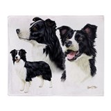 Border collie Fleece Blankets