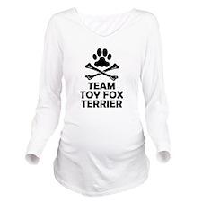 Team Toy Fox Terrier Long Sleeve Maternity T-Shirt