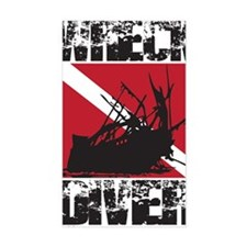 WREAK DIVER WHITE Decal