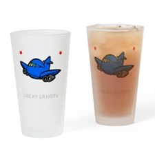 Pilot Grandpa -dk Drinking Glass