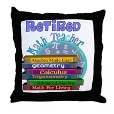 Retired Math Teacher Blue 2011 Throw Pillow