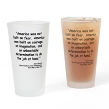 Truman Courage Quote Drinking Glass