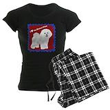 Bichon christmas Women's Pajamas Dark