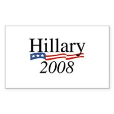 Hillary Clinton 2008 Rectangle Decal