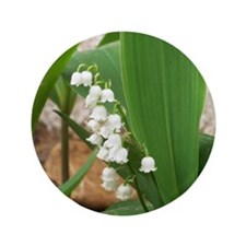 "Lily of the Valley 3.5"" Button"