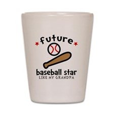 Baseball Grandpa Shot Glass