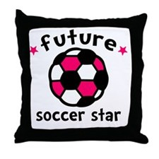 Soccer Star Throw Pillow