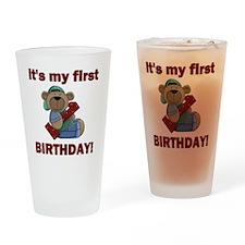 BDAY BEAR 1 Drinking Glass