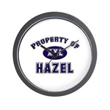 Property of hazel Wall Clock