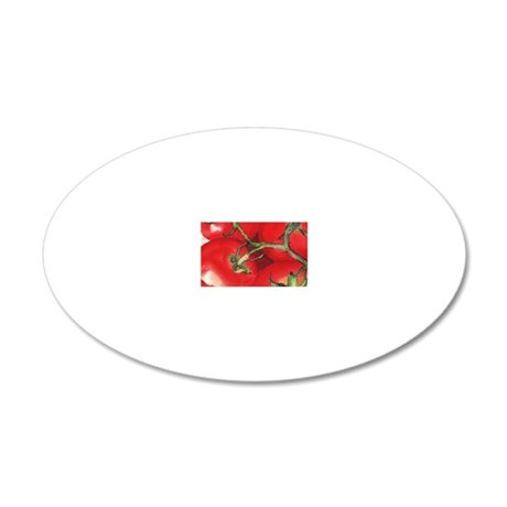 tomato vine 20x12 Oval Wall Decal