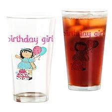 birthday girl brun2 Drinking Glass
