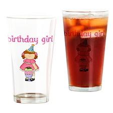 birthday girl red Drinking Glass
