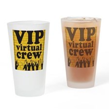 VIPCREWLOGOforCafe Drinking Glass