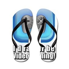 Id_Rather_be_gaming Flip Flops