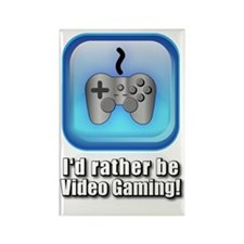 Id_Rather_be_gaming Rectangle Magnet