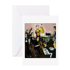 Cymbalist and Fly Greeting Cards