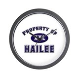 Property of hailee Wall Clock