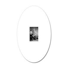 Teslathinker 20x12 Oval Wall Decal