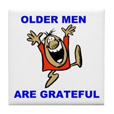 GRATEFUL OLD MEN Tile Coaster
